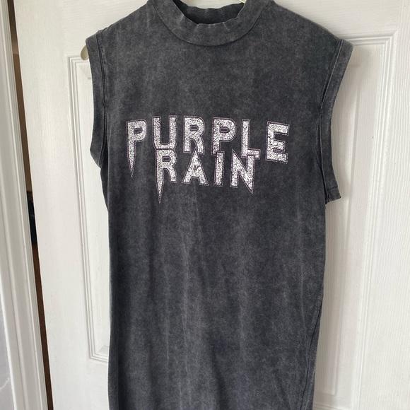 Urban Outfitters Purple Rain T-shirt Dress